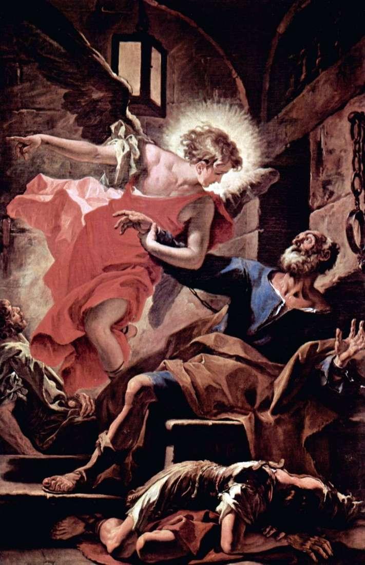 Uwolnienie Apostoła Piotra przez anioła   Sebastiano Ricci