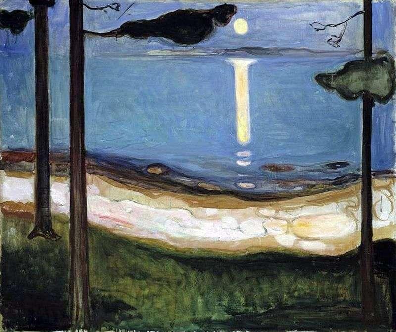 Światło księżyca   Edvard Munch