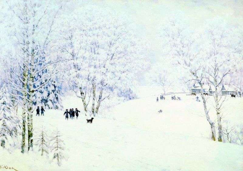 Rosyjska zima. Ligachevo   Konstantin Yuon