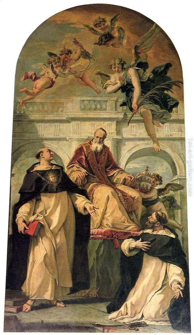 Pius V, Święty Piotr i Tomasz z Akwinu   Sebastiano Ricci