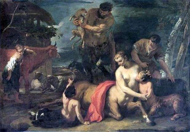 Rodzina Centaurów   Sebastiano Ricci
