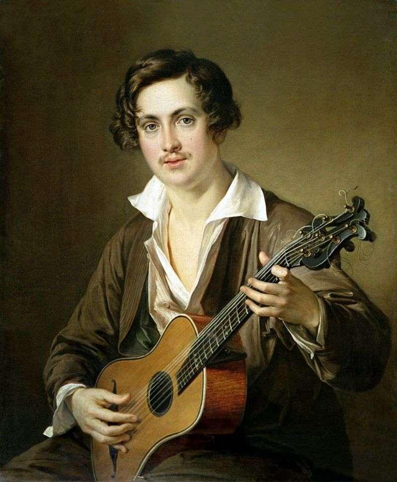 Gitarzysta (portret Morkova)   Wasilij Tropinin