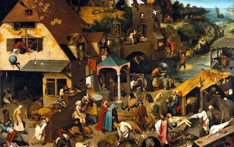 Holenderskie przysłowia   Peter Bruegel