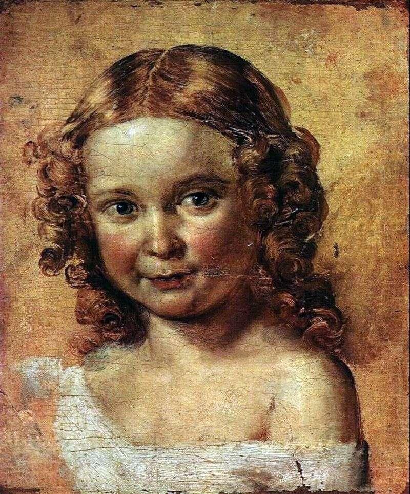 Głowa dziewczyny (studium portretu Ershova i córki)   Wasilij Tropinin
