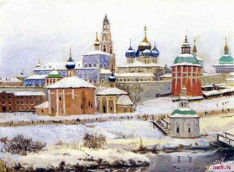 Trinity Sergius Lavra zimą   Konstantin Yuon