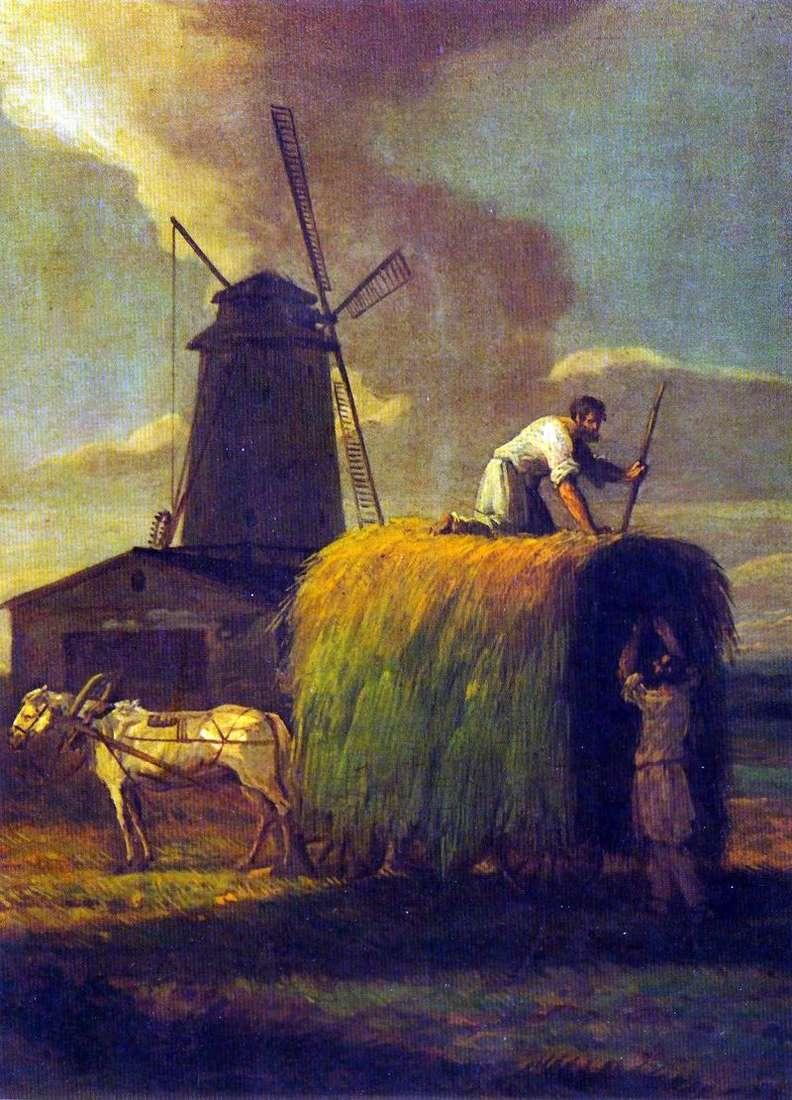 Zbiór siana. Wieś Nikolskoye, majątek A. N. Lwowa   Maxim Vorobev