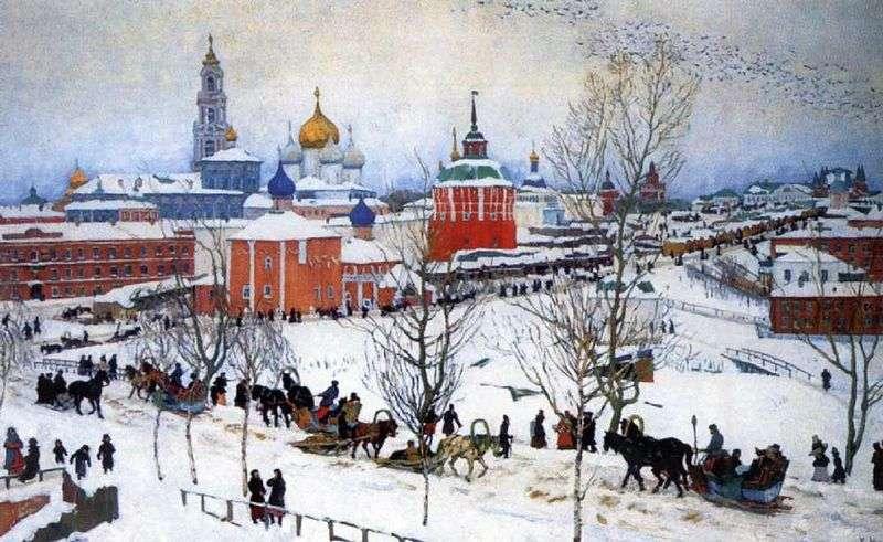 Klasztor Świętej Trójcy zimą   Konstantin Yuon