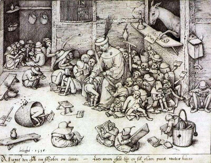 Osioł w szkole   Peter Bruegel