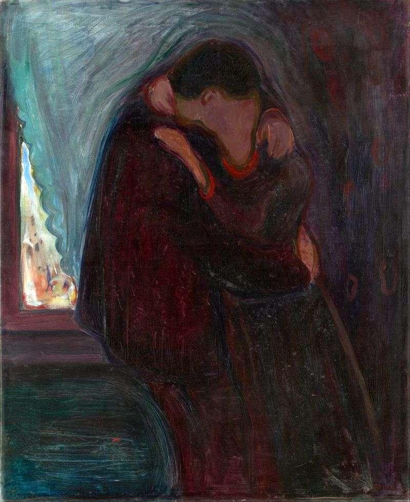 Pocałunek   Edvard Munch