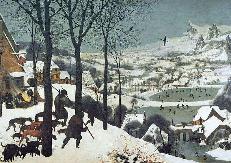 Łowcy w śniegu   Peter Bruegel