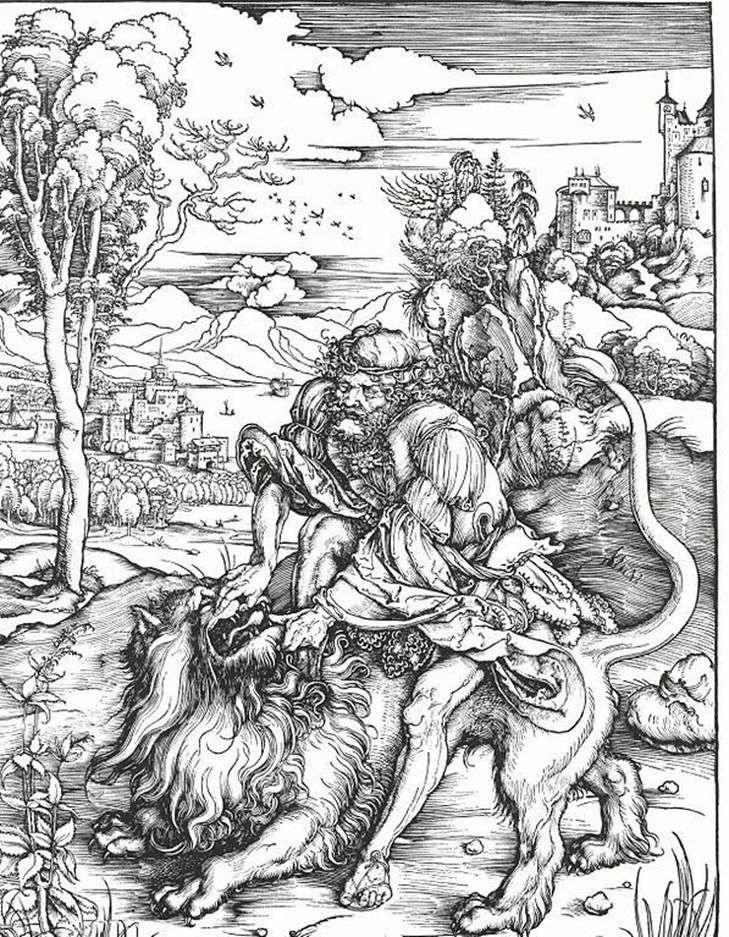 Samson the Lion Slayer   Albrecht Durer
