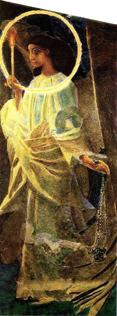 Anioł z kadzielnicą i świeczką   Michaił Vrubel