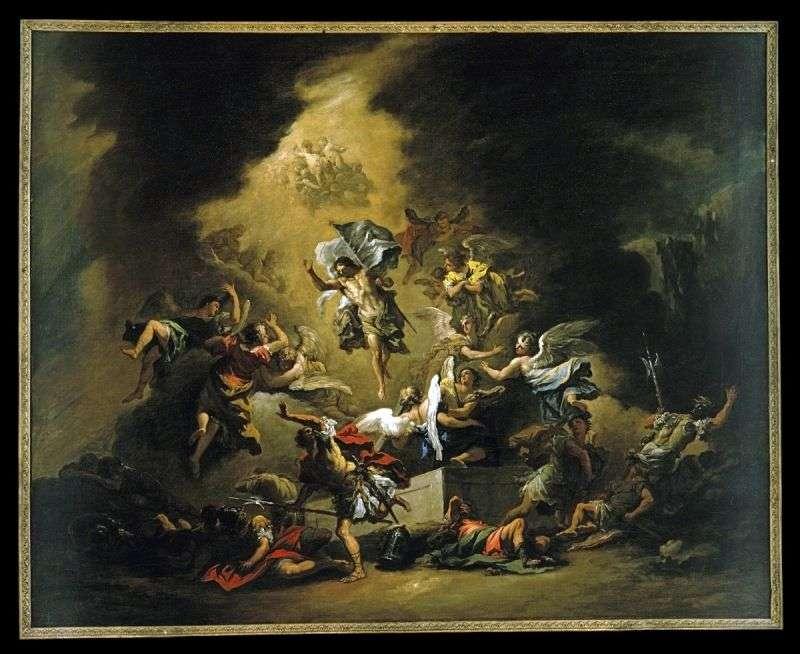 Chrystus pojawia się wraz z aniołami   Sebastiano Ricci