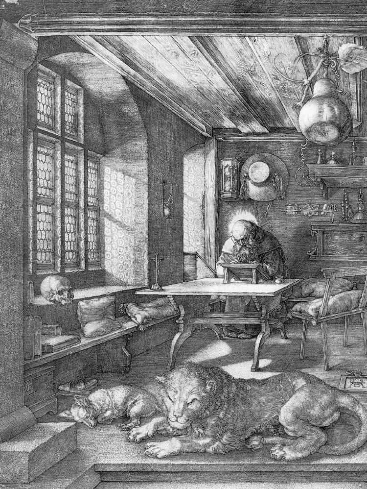 Święty Jerome in the Cell   Albrecht Durer