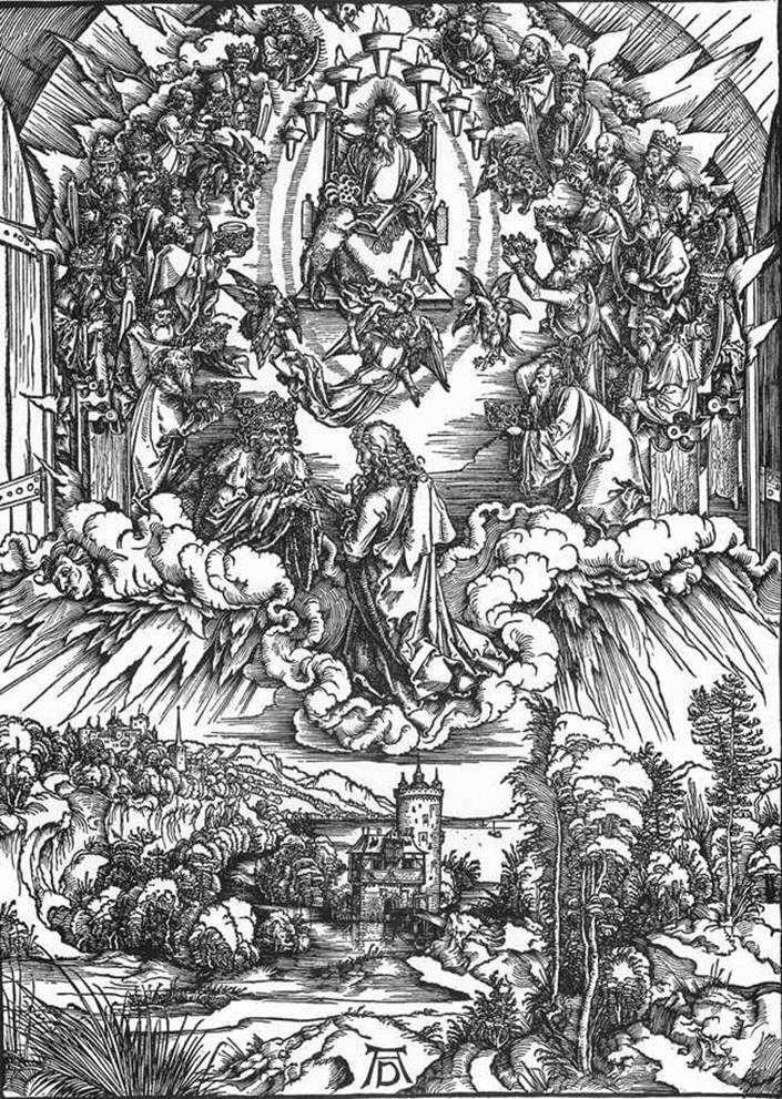 Św. Jan i dwudziestu czterech starszych   Albrecht Durer