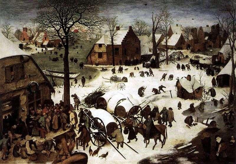 Spis ludności Bethlehem   Peter Bruegel