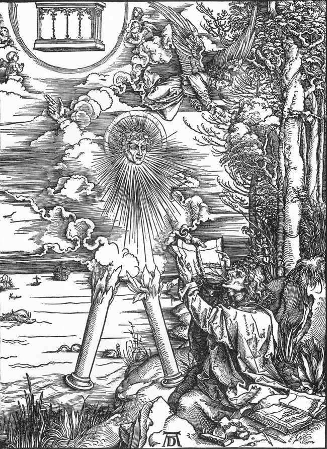 Święty Jan otrzymuje Księgę Objawienia   Albrecht Durer