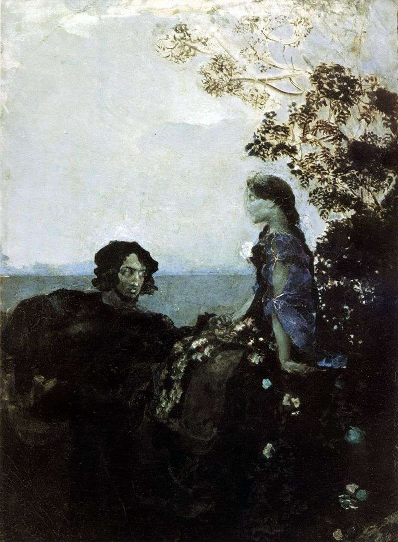 Hamlet i Ofelia   Michaił Vrubel