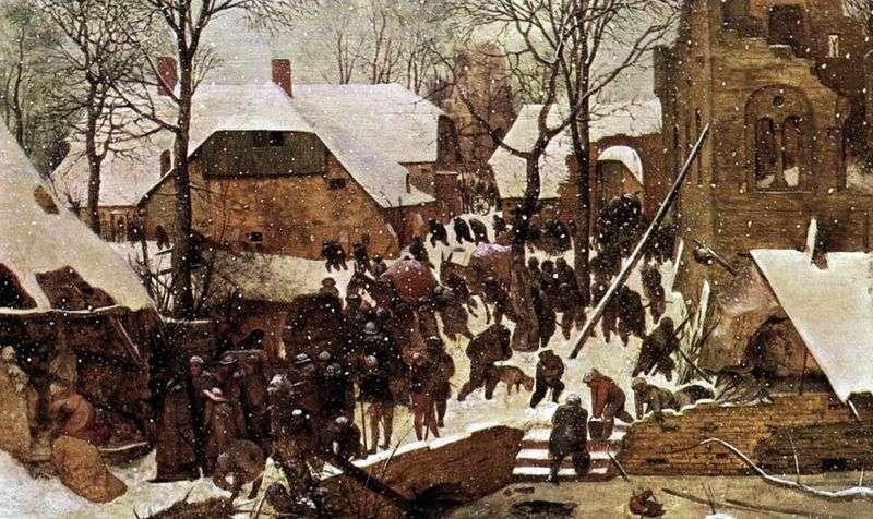 Pokłon Trzech Króli w zimowym krajobrazie   Pieter Bruegel