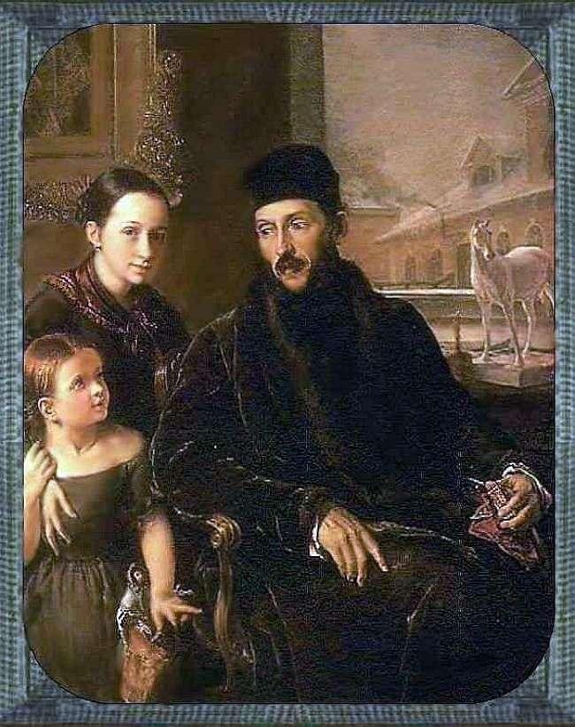 Portret D. P. Voeikova z córką i guwernantką Miss Sorok   Wasilij Tropinin