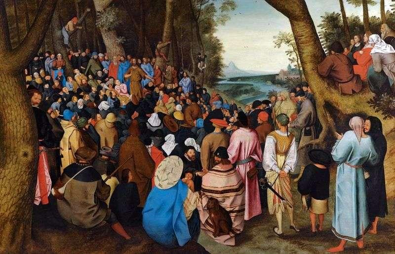 Kazanie Jana Chrzciciela   Peter Bruegel