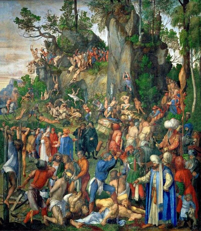 Zabójstwo dziesięciu tysięcy chrześcijan   Albrecht Durer