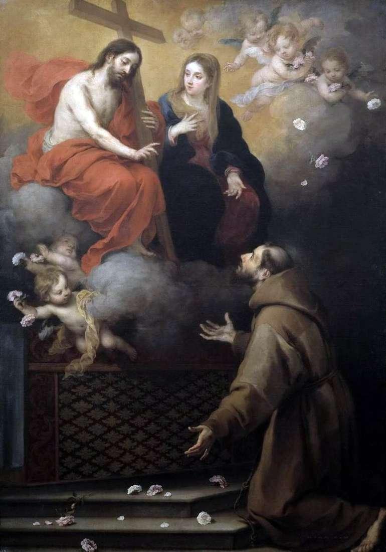 Wizja św. Franciszka   Bartolomeo Esteban Murillo