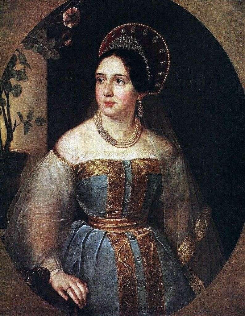 Portret E. I. Karzinkiny   Wasilij Tropinin