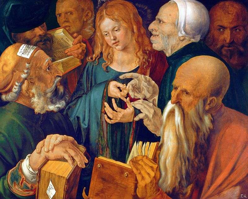 Chrystus wśród uczonych w Piśmie   Albrecht Durer