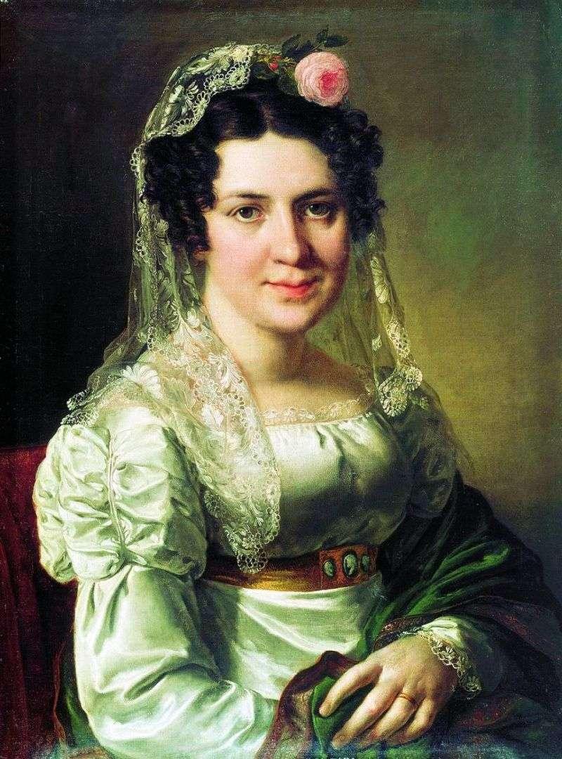 Portret Elena Dmitrievna Shchepkina   Vasily Tropinin