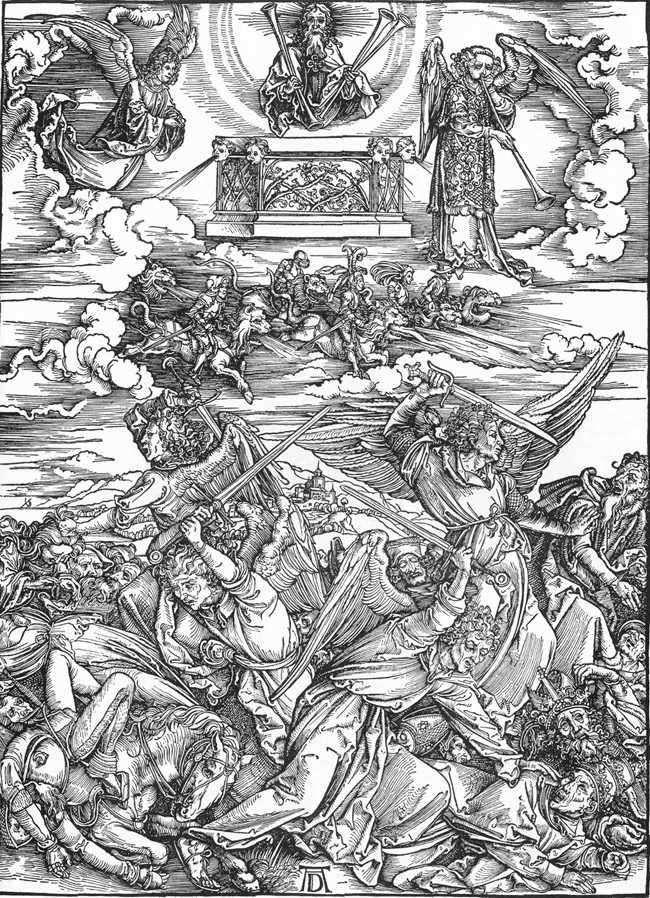 Cztery anioły śmierci   Albrecht Durer