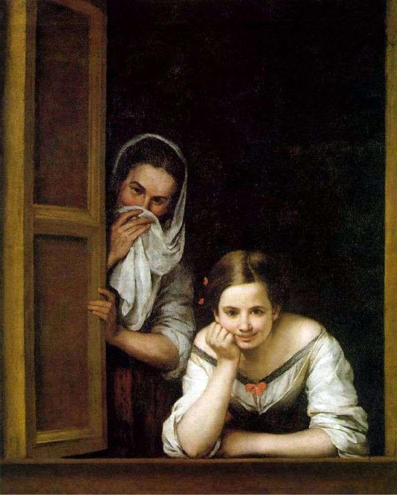 Dziewczyny w oknie   Bartolome Esteban Murillo