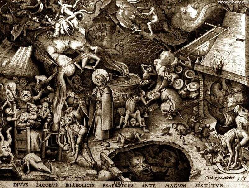 Święty Jerome. Grawerowanie   Peter Bruegel