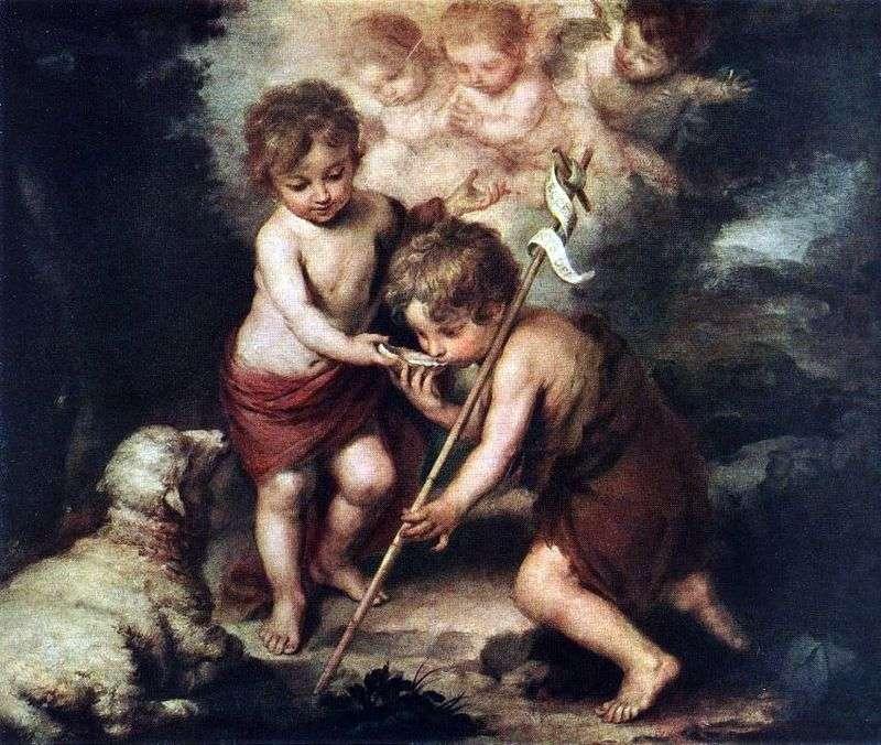 Dzieci z Barankiem   Bartolomeo Esteban Murillo