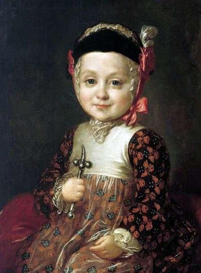 Portret A. G. Bobrinsky w dzieciństwie   Fedor Rokotov