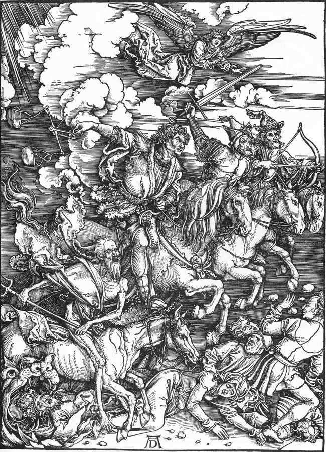 Czterej Jeźdźcy Apokalipsy   Albrecht Durer