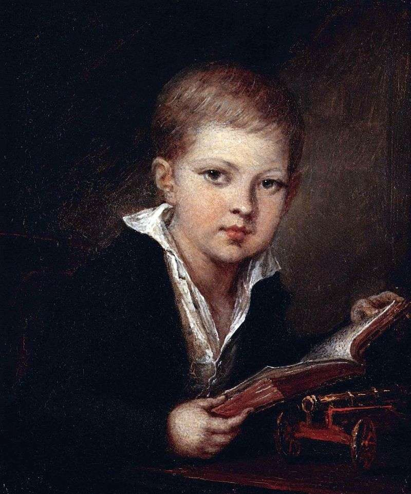Portret księcia M. A. Obolensky jako dziecko   Vasily Tropinin
