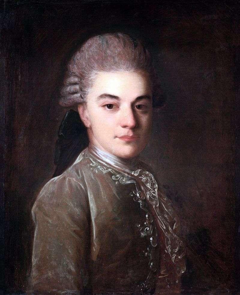 Portret A. Rimsky Korsakow w młodości   Fedor Rokotov