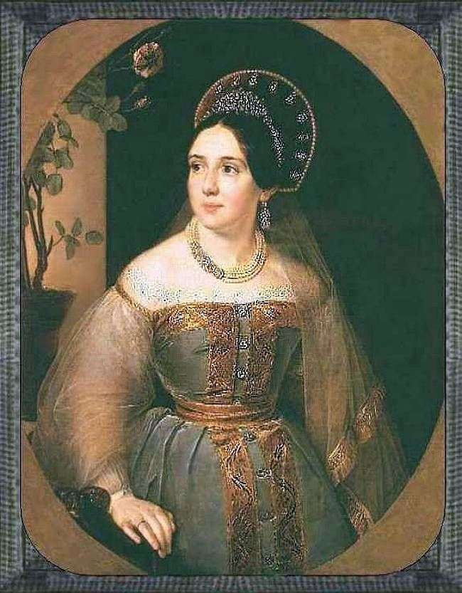 Portret handlarza EI Karzinkina w rosyjskim stroju   Wasilij Tropinin