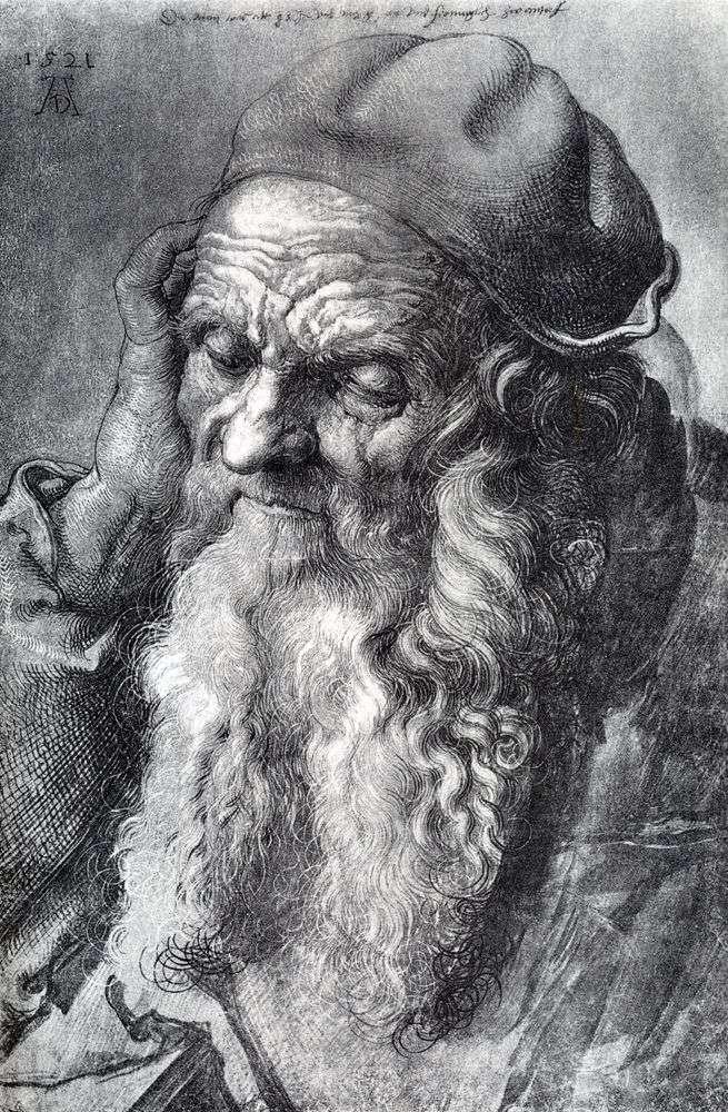 Studiowanie 93 letniego mężczyzny   Albrechta Durera