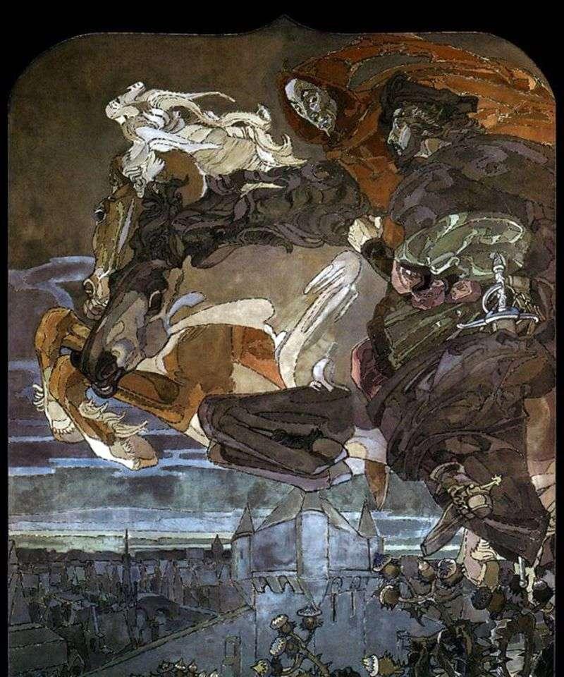 Lot Fausta i Mefistofele   Mikhail Vrubel