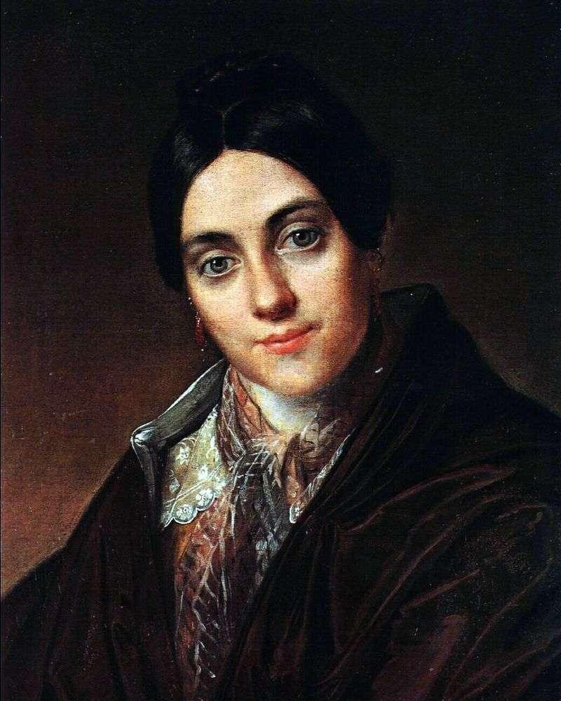 Portret L. K. Makovskaya   Wasilij Tropinin