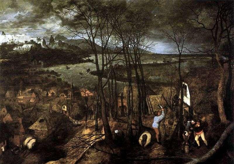 Ciemny dzień. Cykl pór roku   Peter Bruegel