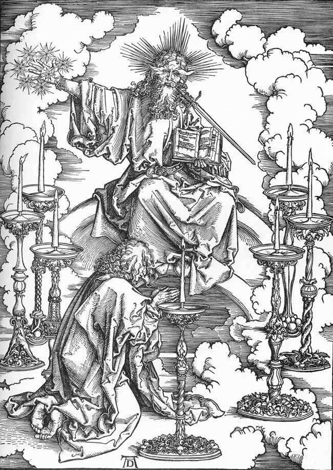 Wygląd Jana Chrzciciela i esencja siedmiu kościołów   Albrecht Durer