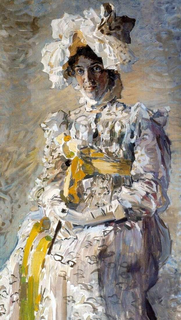 Portret aktorki N. I. Zabela Vrubel, żony artysty, w letniej toalecie Imperium   Michaił Vrubel