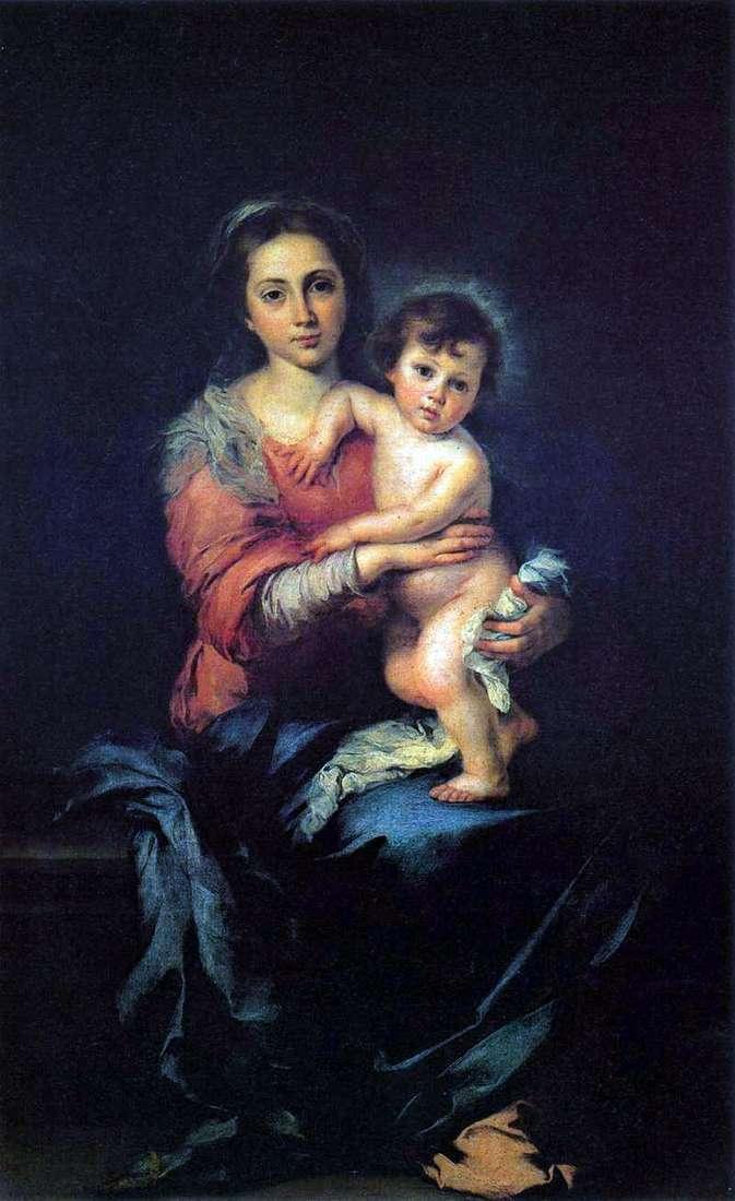 Madonna z Dzieciątkiem   Bartłomiej Esteban Murillo