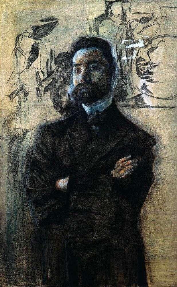 Portret V. Ya. Bryusova   Michaił Vrubel