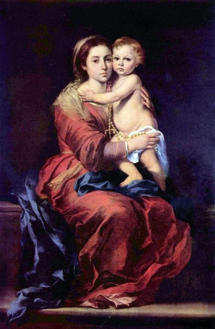 Madonna z różańcem   Bartolome Esteban Murillo