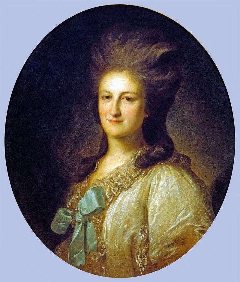 Portret Varvara Yermolaevna Novosiltseva   Fiodor Rokotow