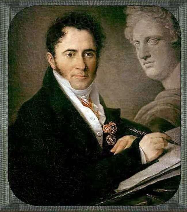 Portret N. I. Utkin   Wasilij Tropinin